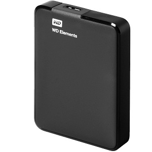 1.WD Elements Portable 2TB