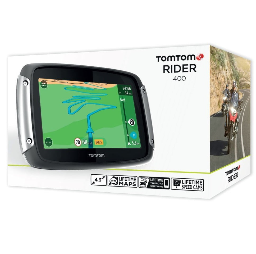 navigatore gps per moto tom tom rider 400 opinioni. Black Bedroom Furniture Sets. Home Design Ideas