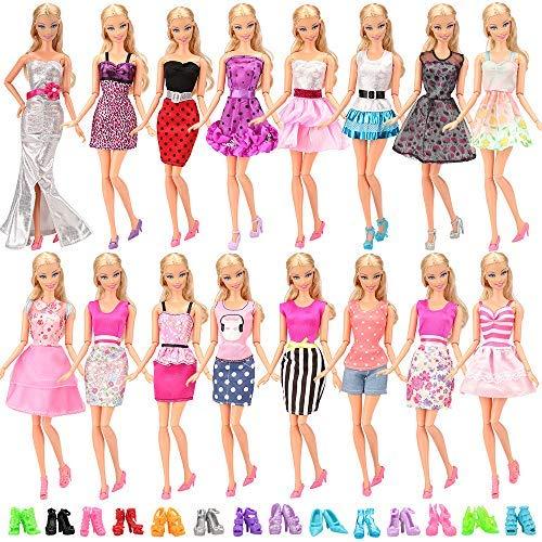accessori scarpe alta qualità vestito barbie