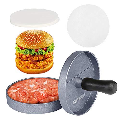 3 in 1 antiaderente facile da usare nero con 100 fogli di cera pulito e facile da raccogliere Macchina per hamburger YFOX strumento per grigliare hamburger
