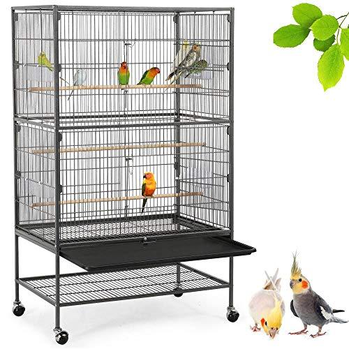 Gabbia per uccelli Ordinata gabbia per uccelli Copertura per rete in rete Sementi Catcher Gonna Guardia Gabbia per uccelli Custodia ordinata per rete per uccelli Rete in nylon per rete Elasticamente