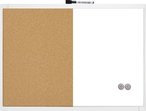 motivo: pino colore: bianco 60 Lavagna in sughero BASSK 40 x 60 cm
