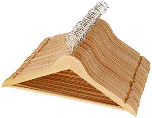 HANGERWORLD forma arrotondata 30 cm 20 Grucce appendiabiti in legno